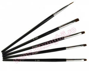 Set 5 Pensule Manichiura Unghii False BlackWood