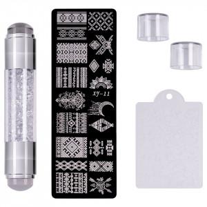 Set Stampila Unghii + Matrita Crystal Nail Art, XY-11 - SensoPRO Milano