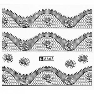 Tatuaj unghii A666 lace