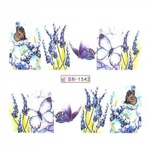 Tatuaj unghii LUXORISE, Butterfly BN-1542