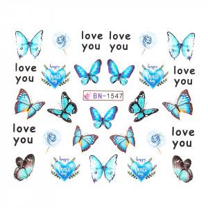 Tatuaj unghii LUXORISE, Butterfly BN-1547