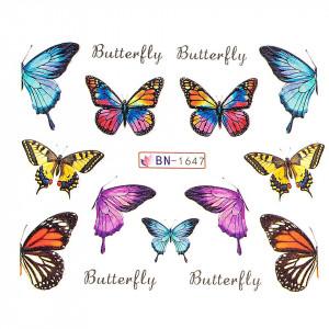Tatuaj unghii LUXORISE, Butterfly BN-1647