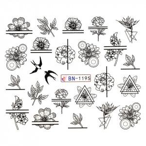 Tatuaj unghii LUXORISE, Fantasy BN-1195