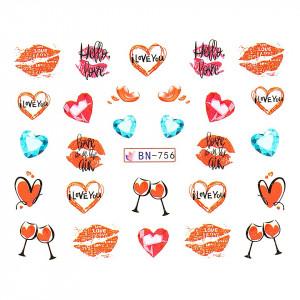 Tatuaj unghii LUXORISE, Love BN-756