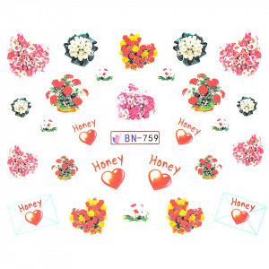 Tatuaj unghii LUXORISE, Love BN-759