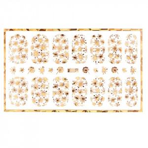 Abtibild unghii cu modele aurii H001