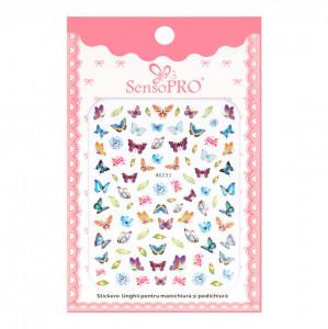 Abtibilduri unghii SensoPRO Magic Butterfly, model WG233