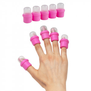 Capsule degete pentru indepartarea ojei semipermanente, set 10 buc.