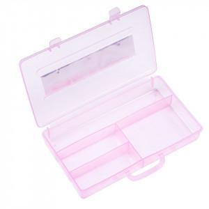 Cutie Manichiura Compartimentata - Recipient Nail - Art cu 4 Sloturi Sweet Pink