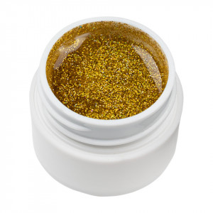 Gel UV Color cu Sclipici ENS PRO #008 - Gold Addict