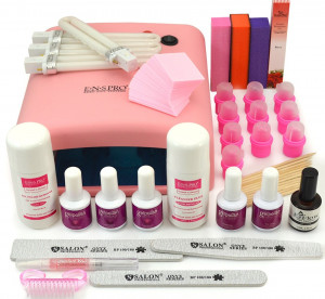 Kit Oja Semipermanenta Profesionala Gelpolish Germania 15ml cu Lampa UV #01 + CADOU