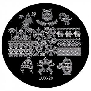 Matrita Metalica Stampila Unghii LUX-20 - Winter's Tale