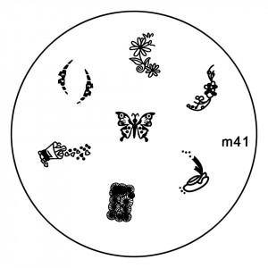 Matrita Metalica Stampila Unghii M41 - Nature