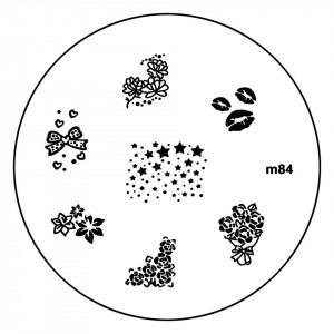 Matrita Metalica Stampila Unghii M84 - Nature
