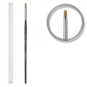 Pensula unghii aplicare gel UV nr.2 cu etui tubular - Rich Black