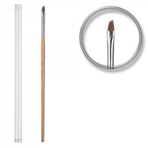 Pensula unghii aplicare gel UV nr.4 cu etui tubular - Deep Carrot