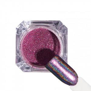 Pigment unghii Holografic #65 cu aplicator - LUXORISE