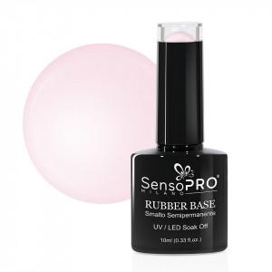 Rubber Base Gel SensoPRO Milano 10ml, #01 Rare Rose