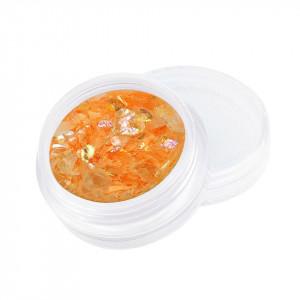 Sclipici Unghii Model Fulgi de Gheata - Orange Sorbet, 5 g