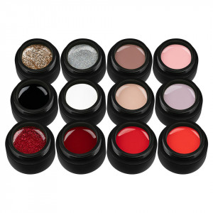Set 12 Geluri UV Colorate VIP TOP Collection, SensoPRO Milano