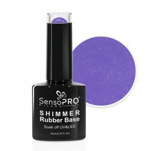 Shimmer Rubber Base SensoPRO Milano - #08 Lavender Shimmer White, 10ml