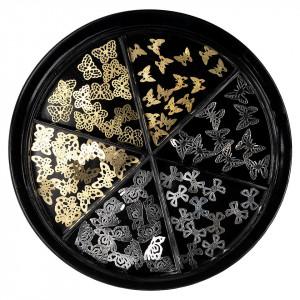 Strasuri Unghii LUXORISE, Butterfly Glow - 6 modele