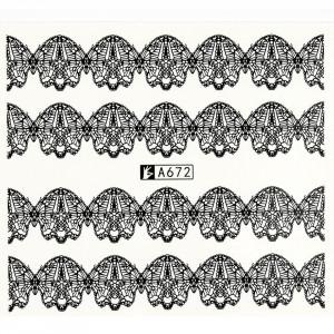 Tatuaj unghii A672 lace