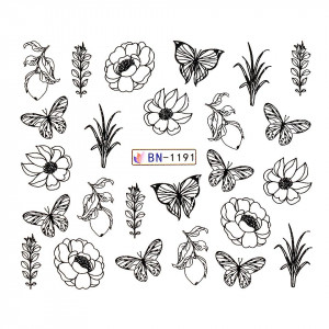 Tatuaj unghii LUXORISE, Butterfly BN-1191