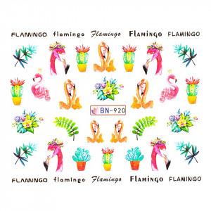Tatuaj unghii LUXORISE, Flamingo BN-920
