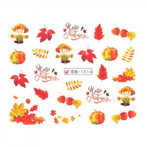 Tatuaj unghii SensoPRO Autumn Challenge, model BN-1516