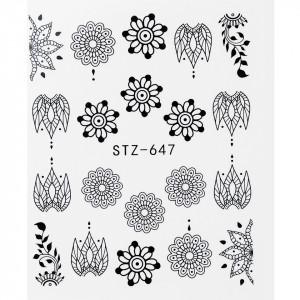 Tatuaj unghii STZ-647 flori
