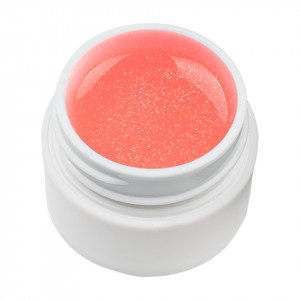 Gel UV Color cu Sclipici ENS PRO #011 - Coral Simple