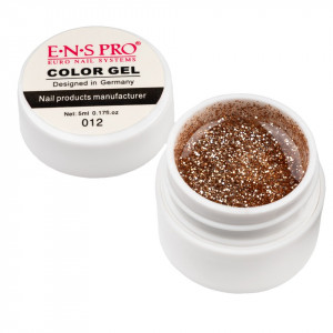 Gel UV Color cu Sclipici ENS PRO #012 - Gold Metal
