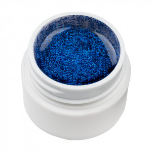 Gel UV Color cu Sclipici ENS PRO #022 - Blue Safir