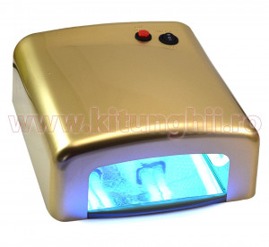 Lampa UV 36W  ENS PRO cu 4 Neoane si Timer - Golden Beauty