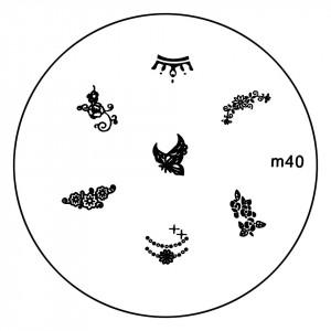 Matrita Metalica Stampila Unghii M40 - Nature