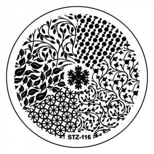 Matrita Metalica Stampila Unghii STZ-116 - Nature