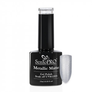 Oja Semipermanenta Metallic Matte SensoPRO 10ml, Slate Gray #010