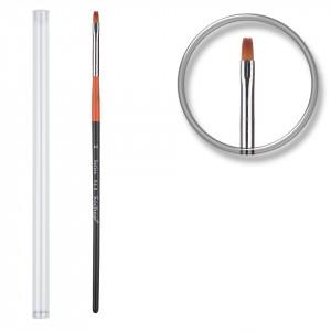 Pensula unghii aplicare gel UV nr.2 cu etui tubular - Royal Orange