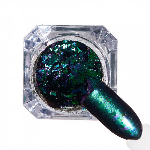 Pigment unghii Ice Effect #61 cu aplicator - LUXORISE