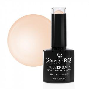 Rubber Base Gel SensoPRO Milano 10ml, #45 Creamy Nude