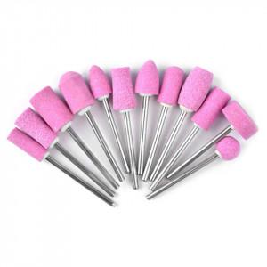 Set capete freza unghii pentru pila electrica profesionala, 12 buc