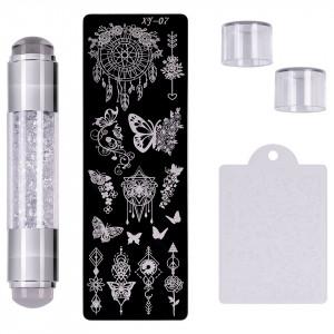 Set Stampila Unghii + Matrita Crystal Nail Art, XY-07 - SensoPRO Milano