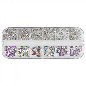 Strasuri Unghii LUXORISE, Holo Crystals, 12 modele
