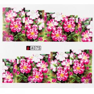 Tatuaj unghii A075 flori