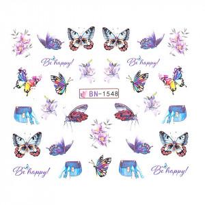 Tatuaj unghii LUXORISE, Butterfly BN-1548