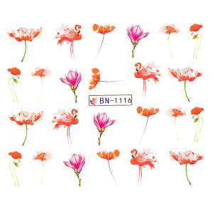 Tatuaj unghii LUXORISE, Flamingo BN-1116