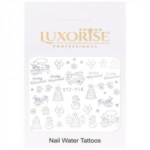 Tatuaj unghii LUXORISE, Winter STZ-Y18 argintiu