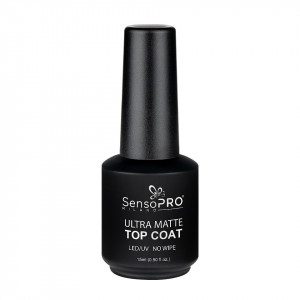 Ultra Matte Top Coat SensoPRO Milano, 15ml