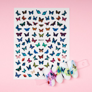 Abtibilduri unghii SensoPRO Magic Butterfly, model WG231